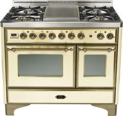 Brand: Ilve, Model: UMD100FDMPI, Color: Antique White with Oiled Bronze Trim