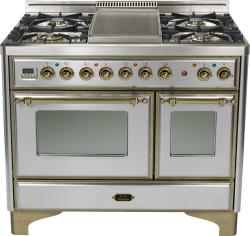 Brand: Ilve, Model: UMD100FDMPI, Color: Stainless Steel with Oiled Bronze Trim