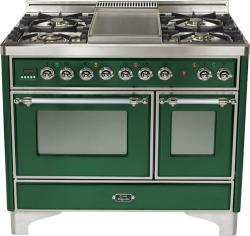Brand: Ilve, Model: UMD100FDMPRB, Color: Emerald Green with Chrome Trim