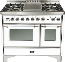 Brand: Ilve, Model: UMD100FDMPI, Color: True White with Chrome Trim