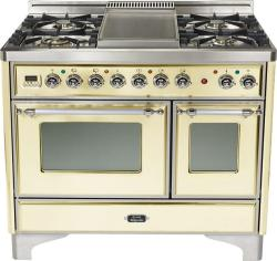 Brand: Ilve, Model: UMD100FDMPI, Color: Antique White with Chrome Trim