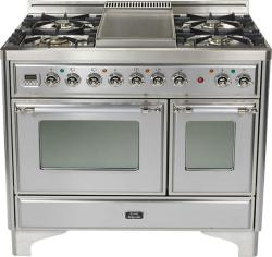 Brand: Ilve, Model: UMD100FDMPI, Color: Stainless Steel with Chrome Trim