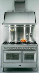 Brand: Ilve, Model: UMT120S5DMP, Style: 48 Inch Freestanding Dual-Fuel Range