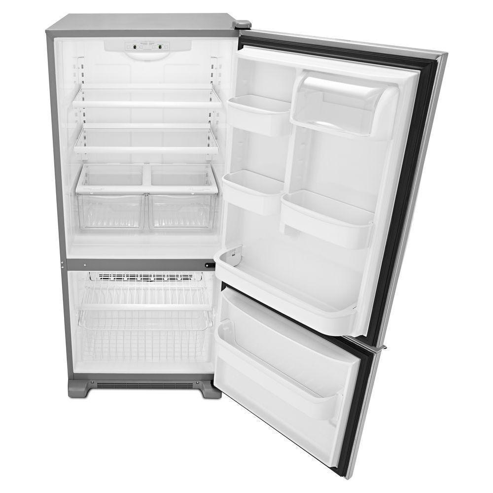 Amana 18 7 Cu Ft Bottom Freezer Refrigerator With 3