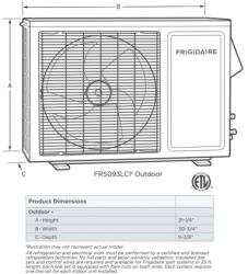Brand: FRIGIDAIRE, Model: FRS093LC1