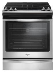 Brand: Whirlpool, Model: WEG745H0FE, Color: Black-on-Stainless