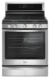 Brand: Whirlpool, Model: WFG745H0FS, Color: Black-on-Stainless