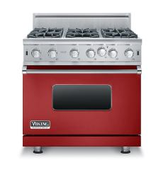 Brand: Viking, Model: VGIC53616BSS, Color: Apple Red, Natural Gas