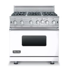 Brand: Viking, Model: VGIC53616BSS, Color: White, Natural Gas