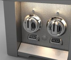 Brand: Hestan, Model: AGB122NGBU, Color: Double Side Burner