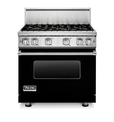 Brand: Viking, Model: VGR73616BARLP, Color: Black Liquid Propane