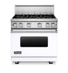 Brand: Viking, Model: VGR73616BARLP, Color: White Liquid Propane