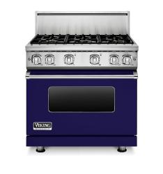 Brand: Viking, Model: VGR73616BARLP, Color: Cobalt Blue Liquid Propane