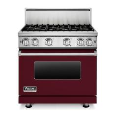 Brand: Viking, Model: VGR73616BARLP, Color: Burgundy Liquid Propane