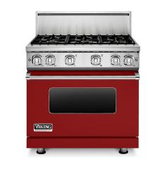 Brand: Viking, Model: VGR73616BARLP, Color: Apple Red Liquid Propane