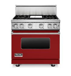 Brand: Viking, Model: VGR73614GBU, Color: Apple Red Liquid Propane