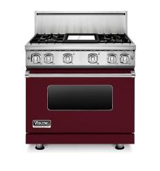 Brand: Viking, Model: VGR73614GBU, Color: Burgundy Liquid Propane