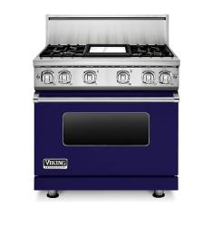 Brand: Viking, Model: VGR73614GBU, Color: Cobalt Blue Liquid Propane