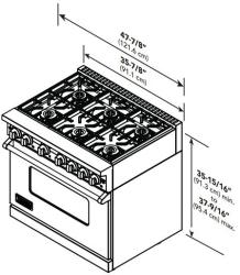 Viking VGR7488BSS 48 Inch Pro-Style Gas Range with 8