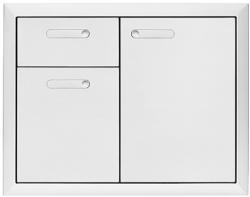 Brand: LYNX, Model: LSA304, Style: 30 Inch Storage Door and Double Drawer Combination