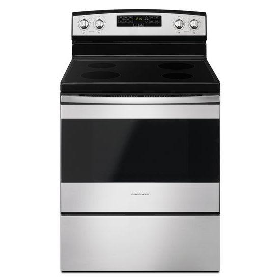 Amana AER6303MFB 30 Inch Electric Range With 4.8 Cu. Ft