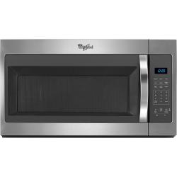 Brand: Whirlpool, Model: WMH31017FS, Color: Black on Stainless