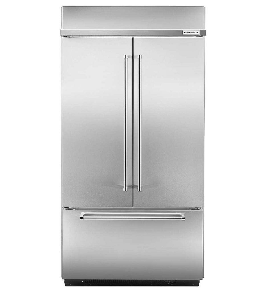 Kitchenaid Kbfn502ebs Bs 24 2 Cuft Black Stainless Steel 3: Bottom Freezer Refrigerators