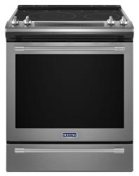 Brand: MAYTAG, Model: MES8800FZ, Color: Stainless Steel