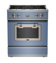 Brand: Big Chill, Model: BCS1900CLAMBSN, Color: French Blue with Satin Nickel