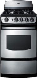Brand: SUMMIT, Model: PRO200SS, Style: 20 Inch Freestanding Gas Range