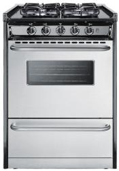 Brand: SUMMIT, Model: TTM61027BRSW, Style: 24 Inch Gas Range