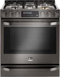 Brand: LG Studio, Model: LSSG3016ST, Color: Black Stainless Steel