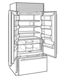 Sub Zero 36 Inch Built-in French Door Refrigerator with 19