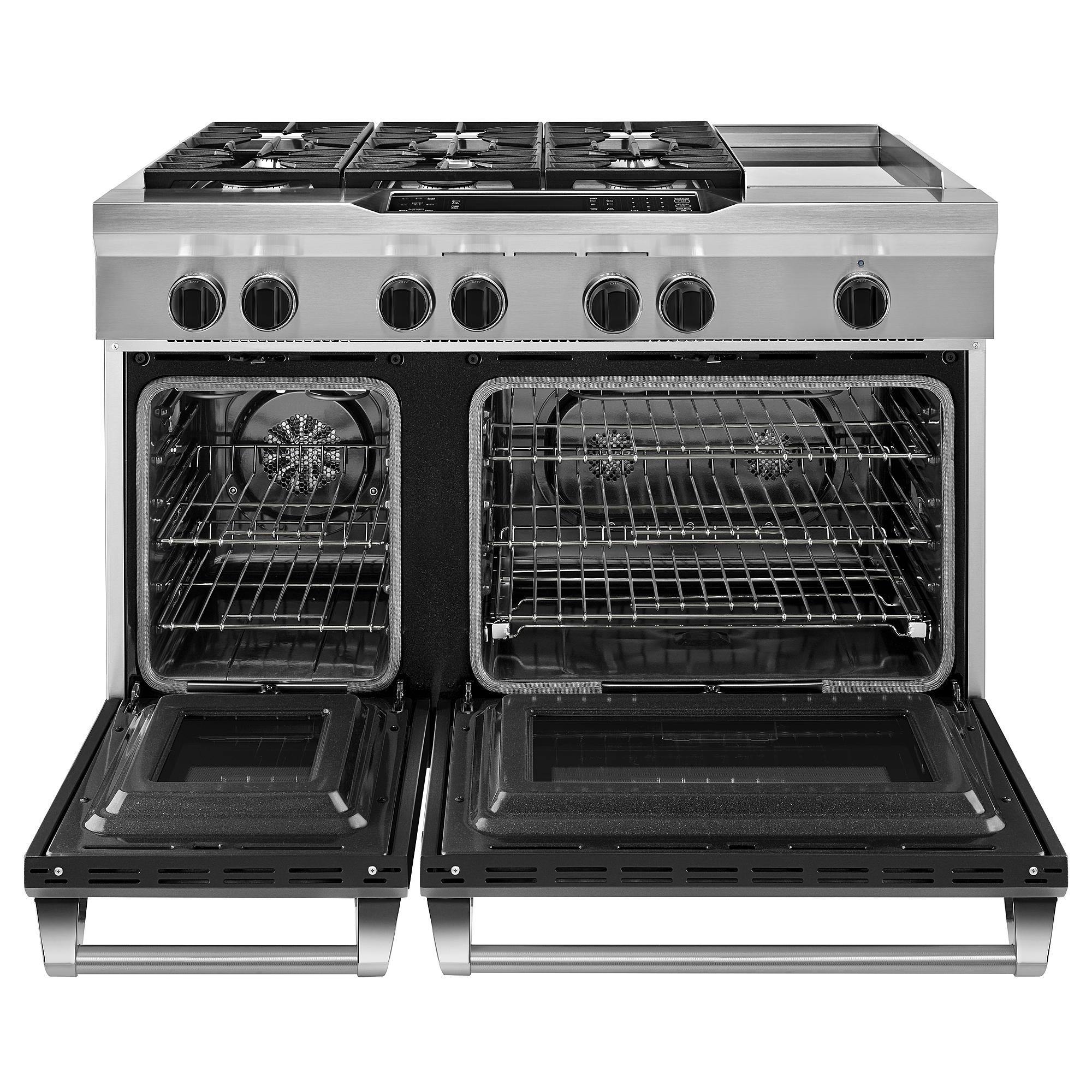 Kitchenaid Kdrs483vss 48 Inch 6 Burner Dual Fuel