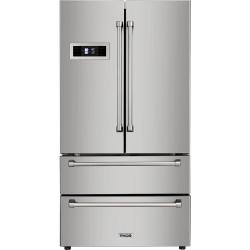 Brand: Thor, Model: HRF3601F, Style: 36 Inch Freestanding 4-Door French Door Refrigerator