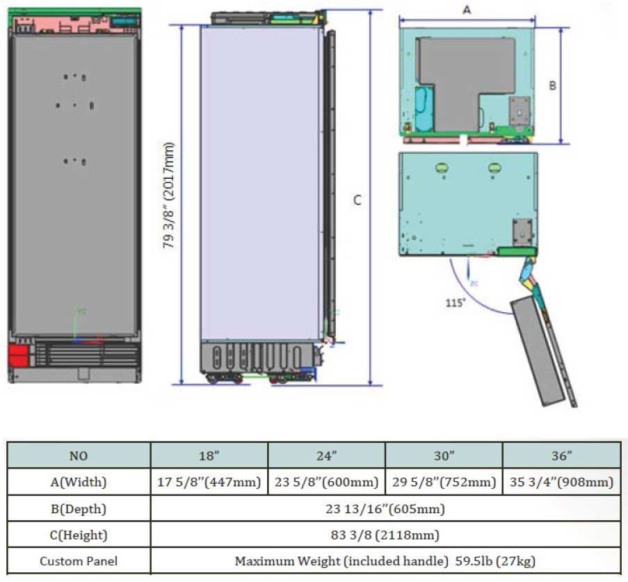 Dacor Drr24980rap 24 Inch Panel Ready Refrigerator Column