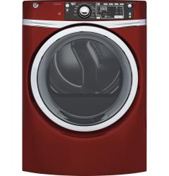 Brand: GE, Model: GFD48ESSKWW, Color: Ruby Red