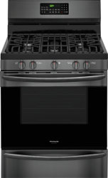 Brand: Frigidaire, Model: FGGF3059TD, Color: Black Stainless Steel