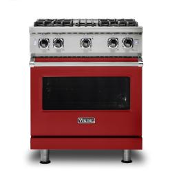 Brand: Viking, Model: VGR5304BBULP, Fuel Type: Apple Red, Natural Gas