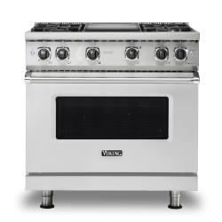 Brand: Viking, Model: VGR5364GWH, Fuel Type: Stainless Steel, Natural Gas