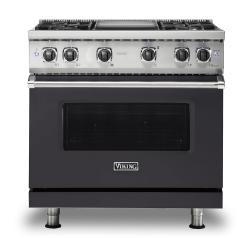Brand: Viking, Model: VGR5364GWH, Fuel Type: Graphite Gray, Natural Gas