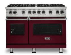 Brand: Viking, Model: VGR5488BBU, Fuel Type: Burgundy, Natural Gas