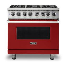Brand: Viking, Model: VDR5366BBK, Fuel Type: Apple Red, Natural Gas