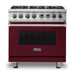 Brand: Viking, Model: VDR5366BBK, Fuel Type: Burgundy, Natural Gas