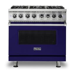 Brand: Viking, Model: VDR5366BBK, Fuel Type: Cobalt Blue, Liquid Propane