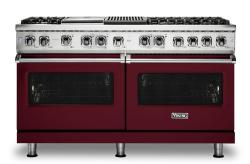 Brand: Viking, Model: VDR5606GQSBLP, Fuel Type: Burgundy, Natural Gas