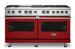 Brand: Viking, Model: VDR5606GQSBLP, Fuel Type: Apple Red, Liquid Propane