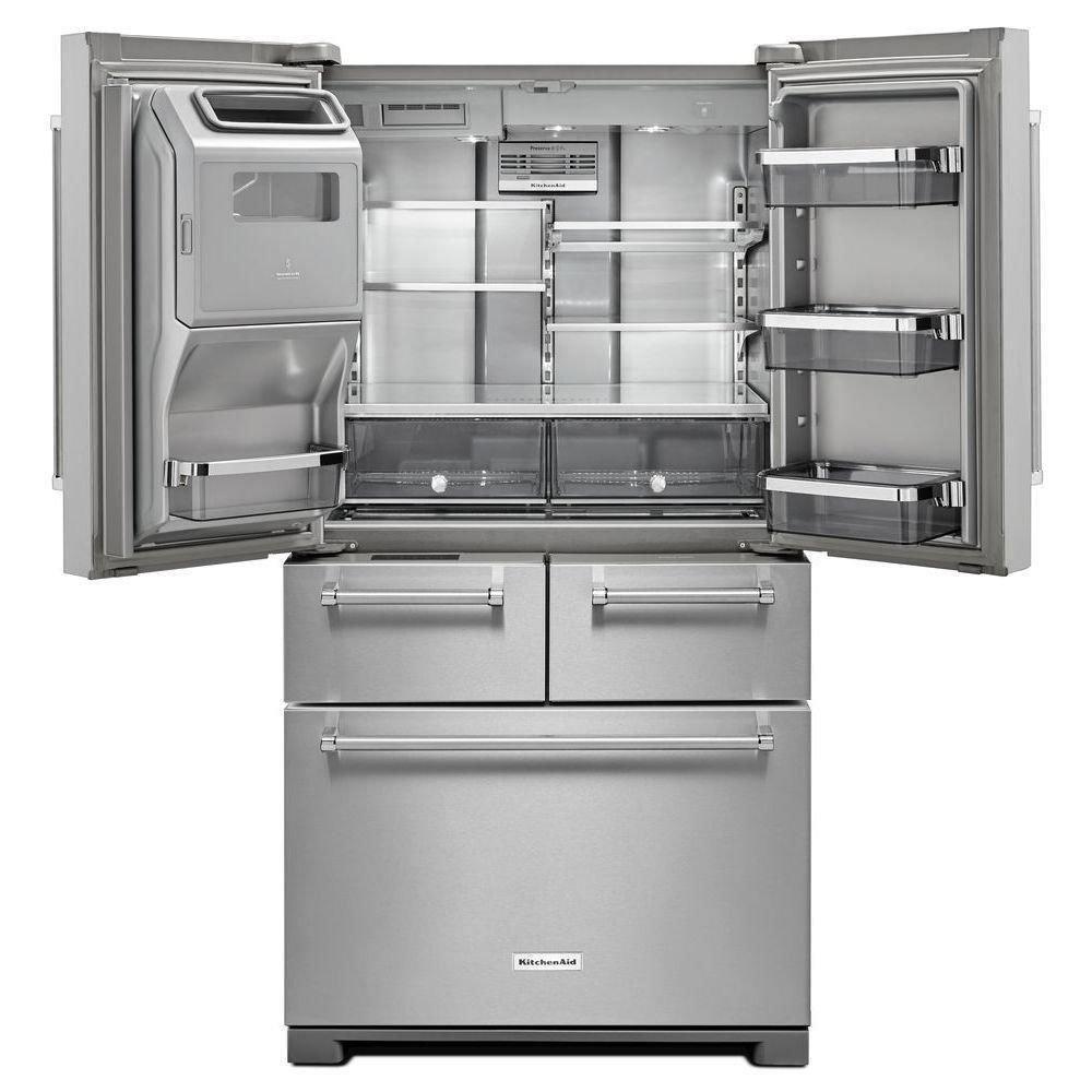 Kitchenaid Kbsd608ebs 29 5 Cuft Black Stainless Steel 2: French Door Refrigerators