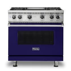 Brand: Viking, Model: VGR5364GWH, Color: Cobalt Blue, Natural Gas