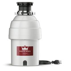 Brand: WASTE KING, Model: L8000, Color: 1 HP Continuous Feed Food Disposer with 2800 RPM Motor & Included Line Cord